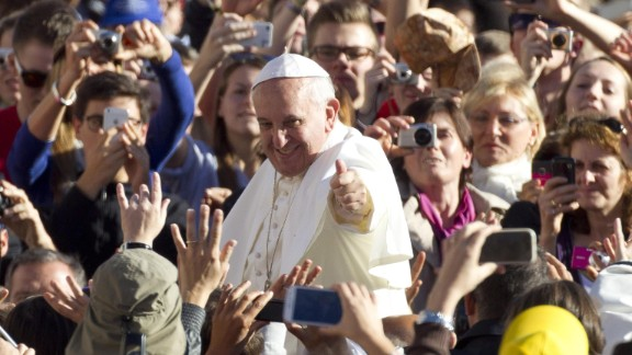 Pope Francis arrives in St. Peter