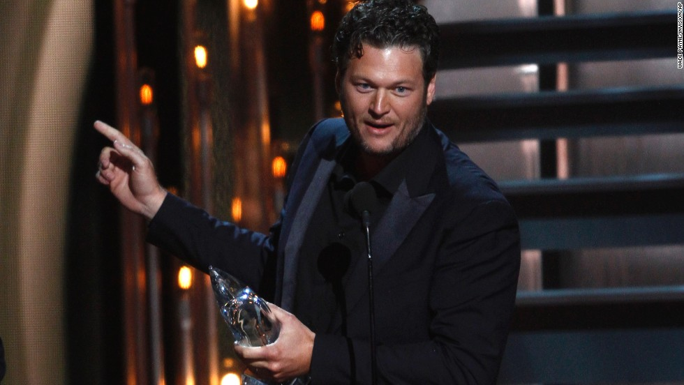 "<strong>Male vocalist of the year </strong>and<strong> album of the year: </strong>Blake Shelton and his album ""Based on a True Story"""