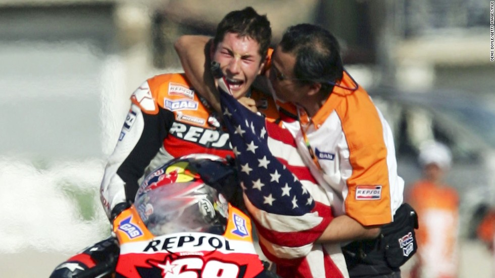 The last time the MotoGP title race went down to the last grand prix was in 2006, when Nicky Hayden trailed Valentino Rossi by eight points. The American was given a boost when the Italian crashed on lap five in Valencia, leaving Hayden to come home in third place and clinch the championship.