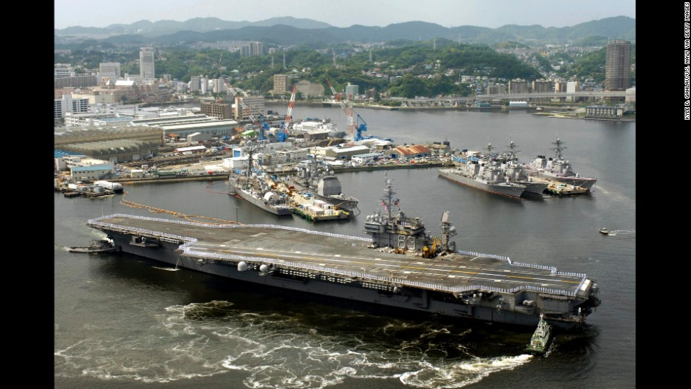 Us flexes naval muscle in asia ahead of trumps visit cnnpolitics the kitty hawk class was named for the uss kitty hawk seen here departing yokosuka photos us aircraft carriers sciox Gallery