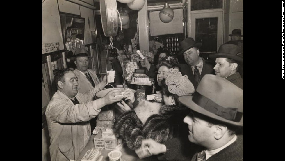 The Kaltman family tries to sell as much butter as possible at their New York dairy store in 1943 before a government deadline to freeze sales. During World War II, the federal government rationed butter in an attempt to control supply and demand while manufacturing plants were being used to support the war effort. As a result, margarine, which contains trans fat, grew in popularity.