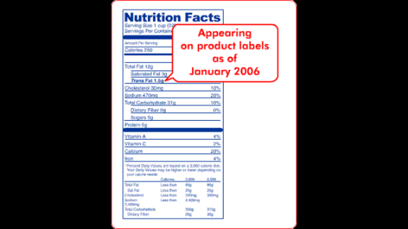 """In 2006, the FDA implemented a rule requiring manufacturers to list trans fat on nutrition labels. Companies can claim that their food has zero grams of trans fat if the it contains less than 0.5 grams of trans fat per serving. Consumers can check the ingredient list for """"partially hydrogenated oil"""" to see whether there is a small amount of trans fat present."""