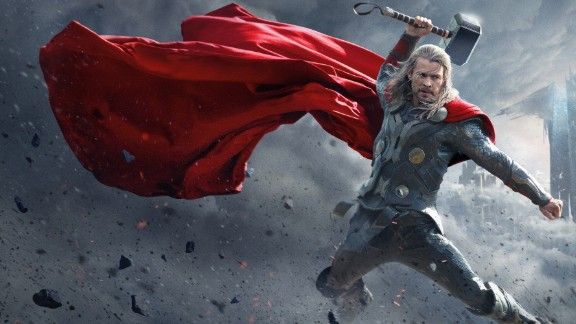 """No. 5: In a year absent an """"Avengers"""" ensemble, Marvel repaid rabid fans with two separate films. Following """"Iron Man 3"""" in the summer came """"Thor: The Dark World,"""" which thundered into the box office with Chris Hemsworth as buff and regal as ever."""