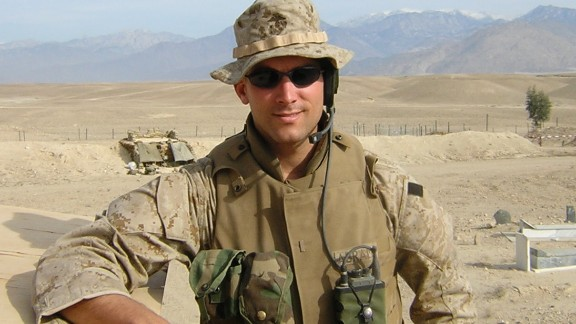 Mike Abrams, founder of a student veterans support program, served as a combat Marine in Afghanistan.