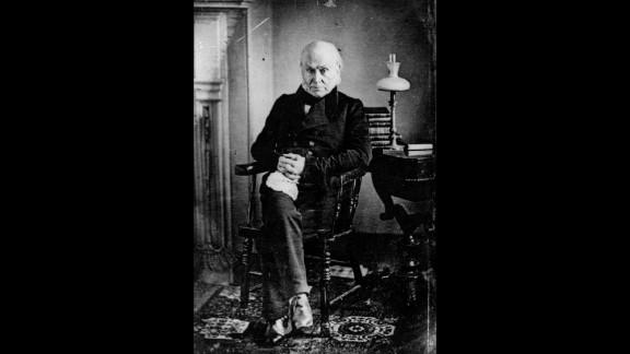 John Quincy Adams is pictured.