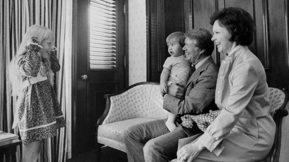 Former President Jimmy Carter spends time with his grandson Jason, wife Rosalynn, and daughter Amy in 1976. Jason Carter was a Democratic member of the Georgia State Senate.