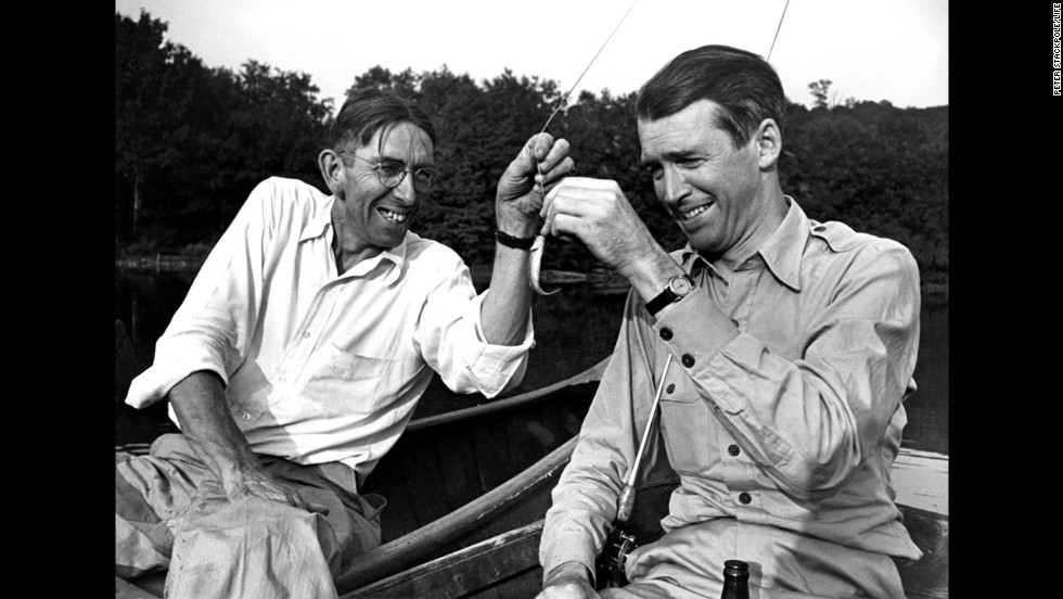 "Stewart goes fishing with his old friend Clyde ""Woodie"" Woodward."
