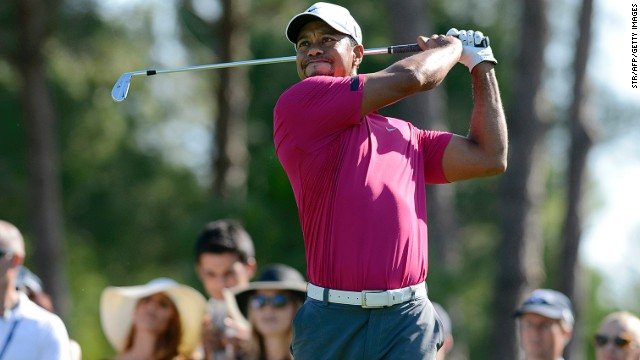 Tiger Woods is six shots off the pace in Turkey after a third round 68 on Saturday.