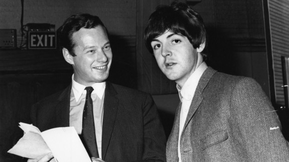 """Paul is dead."" An elaborate theory -- perhaps best explained by Joel Glazier in a 1979 article for the Beatles fanzine ""Strawberry Fields Forever"" -- maintains that Paul McCartney (here with Brian Epstein) died in 1966 and was replaced by a talented double. (There are dozens of clues for you all -- especially on the White Album.) Though it's fascinating to ponder all the backwards sounds and colorful images, this theory says more about our abilities to find patterns than it does about McCartney's fate."