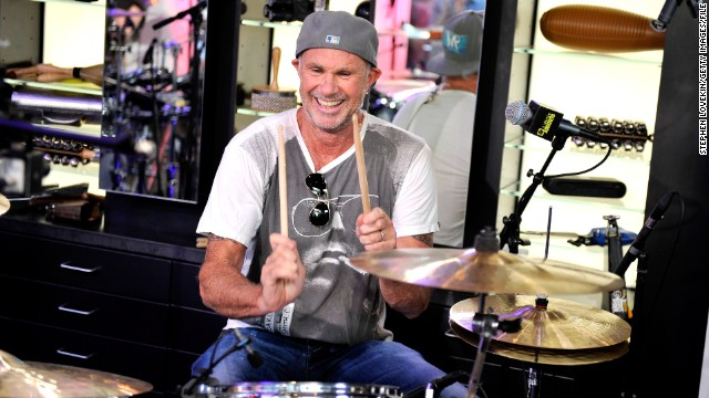 Drummer Chad Smith has been in the Red Hot Chili Peppers since 1988.