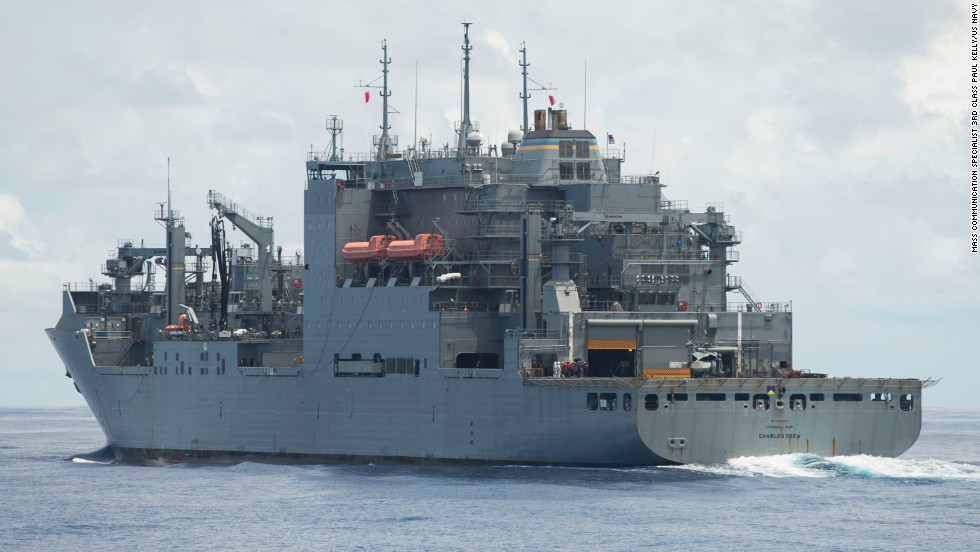 The USNS Charles Drew, a Navy supply ship, is among those heading to the Philippines.
