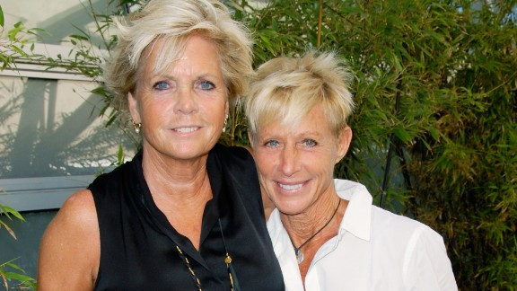 """Former """"Family Ties"""" star Meredith Baxter, left, reportedly tied the knot with girlfriend Nancy Locke in December 2013. According to People magazine, the couple wed in an intimate ceremony in Los Angeles. Baxter, 66, confirmed rumors about her sexuality in 2009, plainly telling the """"Today"""" show, """"Yes, I'm a lesbian."""""""