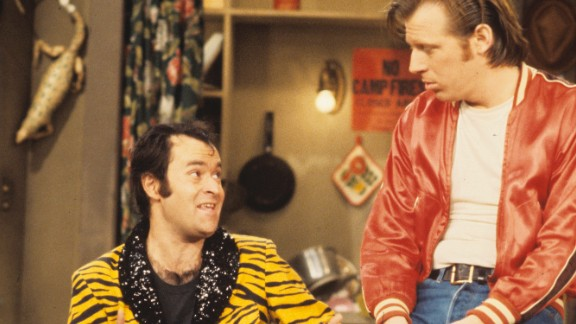 "David Lander, left, who played Squiggy on TV's ""Laverne & Shirley,"" hid his diagnosis for 15 years ""primarily because I didn't think show business would embrace the fact that I have a chronic disease known as multiple sclerosis,"" he said in a 2001 interview with CNN."