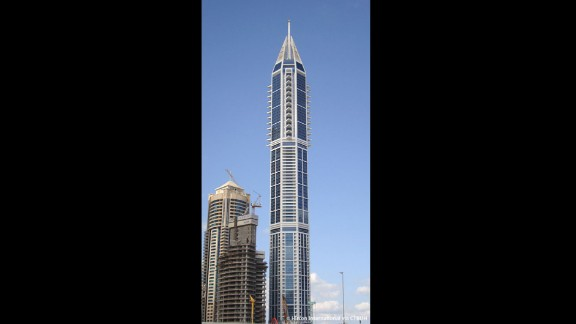 Completed in 2012, this Dubai skyscraper rises to an architectural height of 1,289 feet (392.8 meters) and is occupied to a height of 1,029 feet (313.5 meters).
