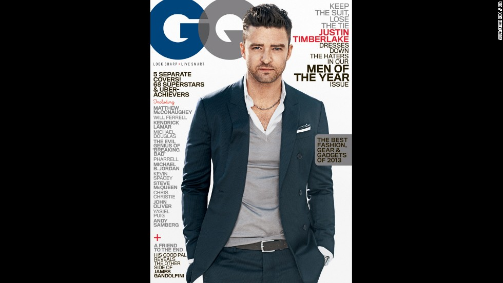 GQ named Timberlake one of its Men of the Year in 2013.