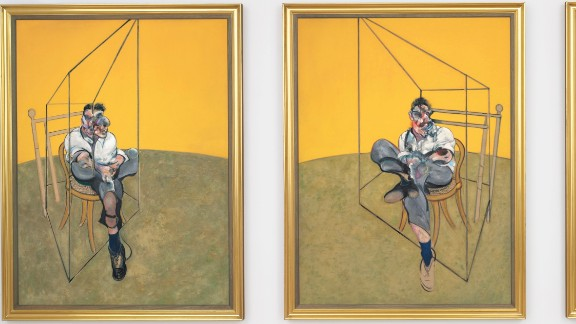 """Three Studies of Lucian Freud"" was painted by Francis Bacon in 1969."