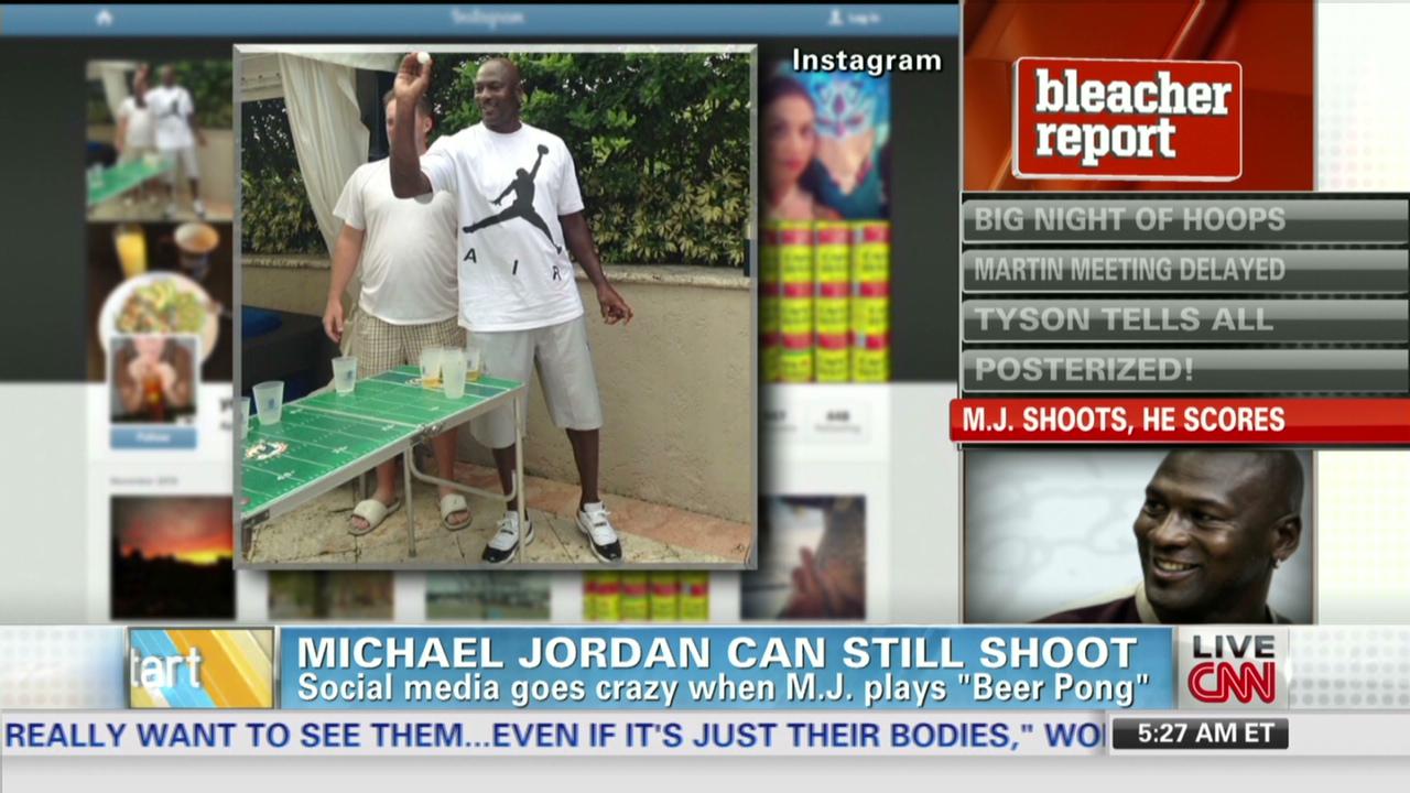 a8ed1e965080f9 Michael Jordan plays beer pong - CNN Video
