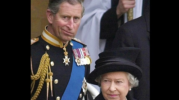 Prince Charles follows his mother, Queen Elizabeth II, as they leave Westminster Hall in April 2002. The Prince of Wales has spent the past six decades living in his mother
