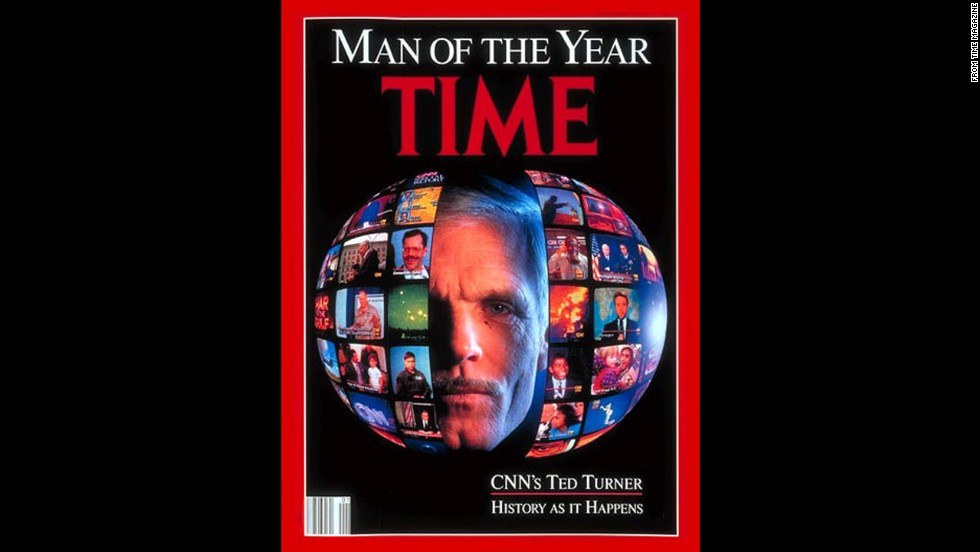 "Turner was named Time magazine's ""Man of the Year"" in 1991."