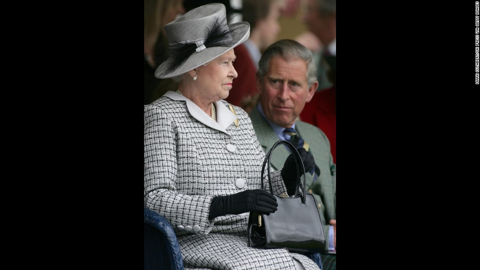 The Queen and Charles attend the 2006 Braemar Gathering in Scotland.