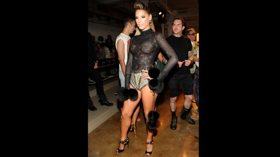 Transgender model and reality TV personality Carmen Carrera attends a fashion show in September 2013 in New York. That year, thousands of fans signed a petition requesting that she be a model during the 2013 Victoria