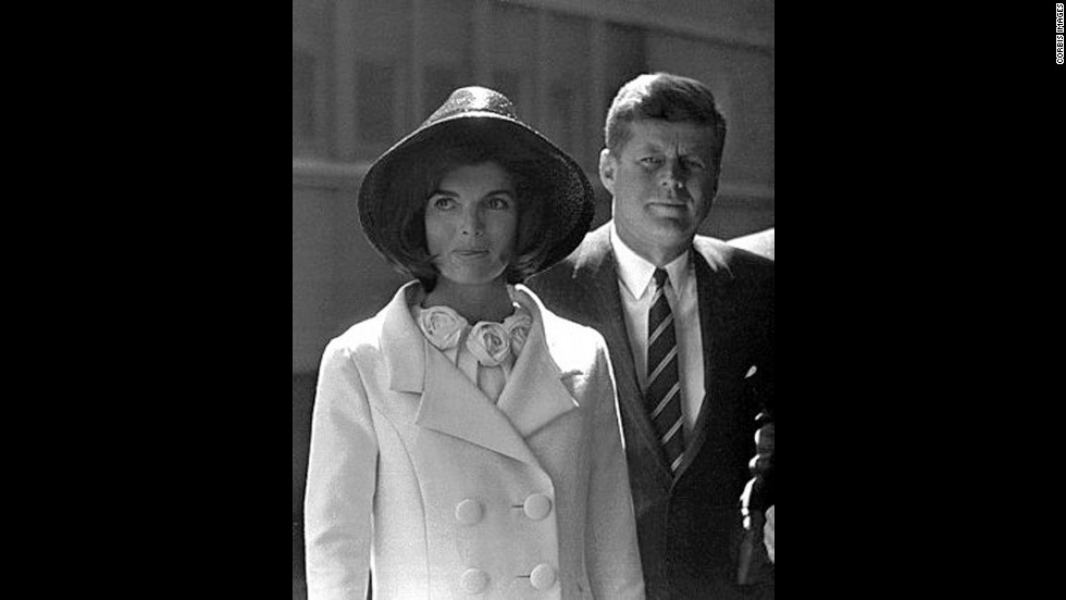 John and Jackie at Union Station after the departure of King Hassan of Morocco on March 27, 1963.