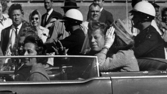 Kennedy is seen approximately one minute before he is shot.