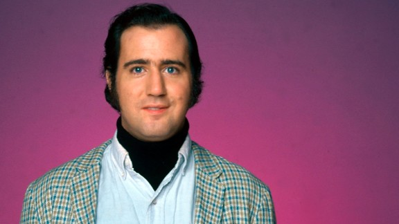 """Andy Kaufman, the comedian who wasn't a comedian, as Latka Gravas on ABC's television show, """"Taxi,"""" one of his best-known roles, in 1978. Kaufman's death in 1984 has fueled many conspiracy theories to the effect that the actor faked it. Take a look back at his life cut short."""