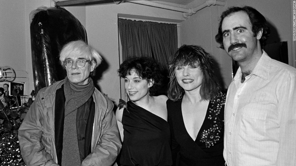 "Andy Warhol, left, with Caitlin Clarke, Debbie Harry and Kaufman, who appeared together in the Broadway show ""Teaneck Tansi: The Venus Flytrap"" at the Nederlander Theatre in New York. The show ran for only one night, on April 20, 1983."