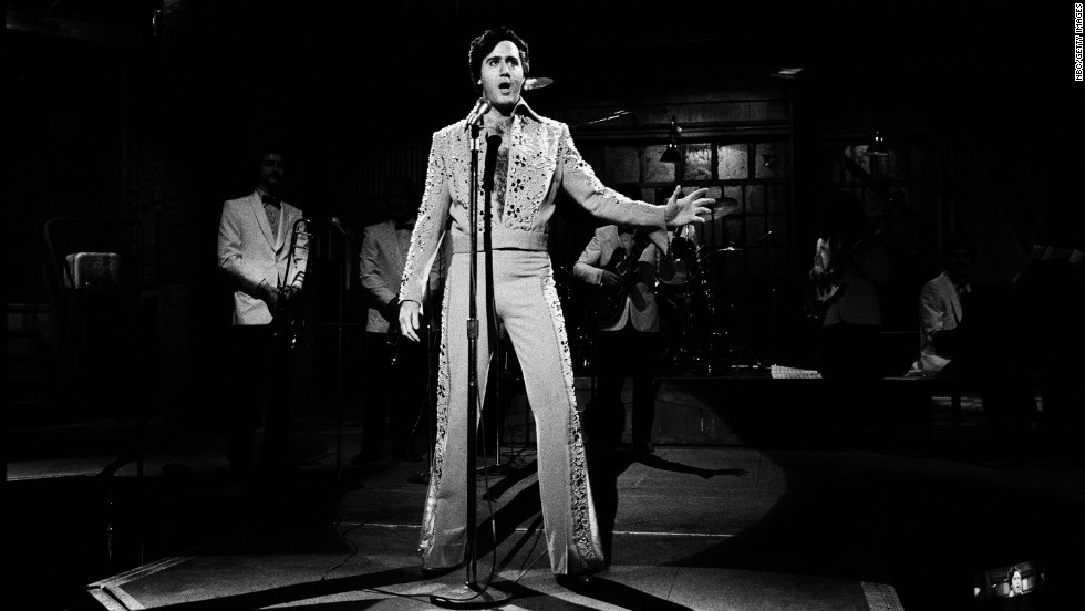 "During the Janurary 30, 1982, episode of ""Saturday Night Live,"" Kaufman performs an Elvis Presley impersonation. Kaufman had a lifelong fascination with the King."