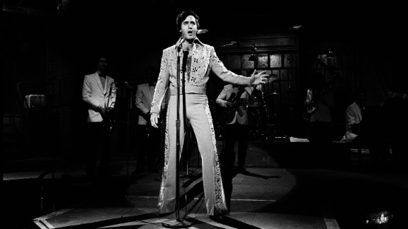 """During the Janurary 30, 1982, episode of """"Saturday Night Live,"""" Kaufman performs an Elvis Presley impersonation. Kaufman had a lifelong fascination with the King."""