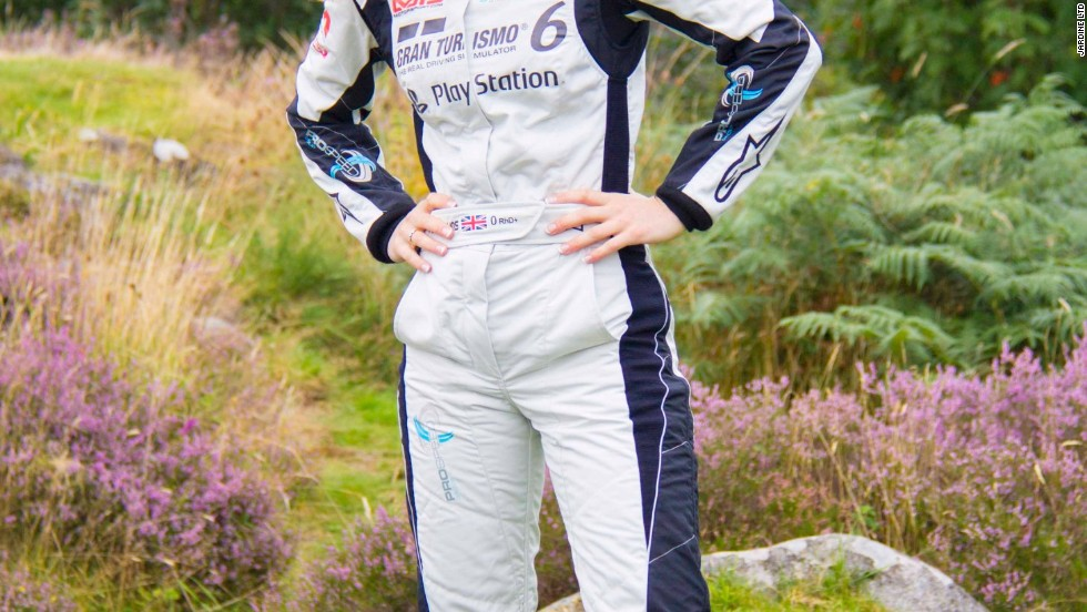 The 31-year-old has donned racing overalls to obtain a license to compete as a co-driver in the final round of the World Rally Championships in Wales. It is a far cry from the Briton's days competing in skeleton, in which competitors throw themselves headfirst down a bobsled track.