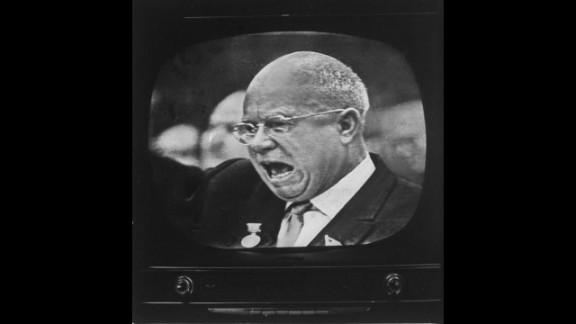 Soviet Premier Nikita S. Khrushchev speaks to the East German Communist Party Congress on January 14, 1963. His public statements in Berlin indicated  the USSR did not immediately plan a full-scale revival of its efforts to force the Western occupation powers out of the former German capital. 1963 was a seminal year, not only because of the assassination of U.S. President John F. Kennedy, but advances in technology, entertainment and evolving political relationships also kept the world on its toes.