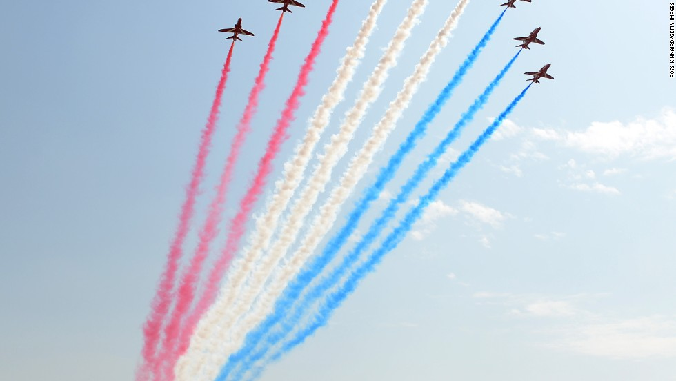 Dubai usually pulls out all the stops for the season-ending World Tour Championship and the Red Arrows staged a fly past before the action got underway at the Jumeirah course.