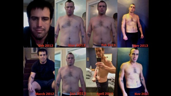 Overall, Mullins has lost about 40 pounds. He continues to lose fat while building muscle.