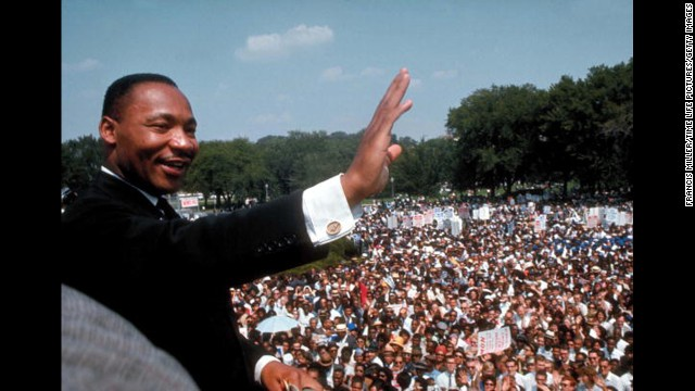 "Hundreds of thousands heard the Rev. Martin Luther King Jr.'s ""I Have a Dream"" speech at the March on Washington."