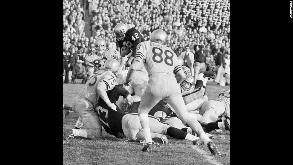 CBS used instant replay for the first time during the airing of the Army-Navy game that took place December 7, 1963, in Philadelphia's Municipal Stadium.