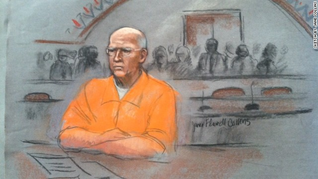 "Convicted mobster James ""Whitey"" Bulger attends his sentencing hearing November 14 in Boston."