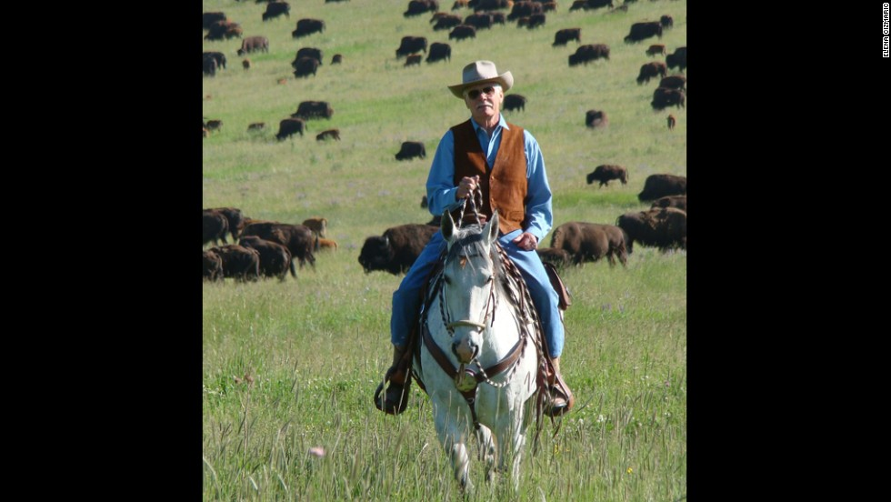 Turner at his Flying D ranch in Montana in 2011.