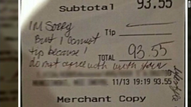 Gay Waitress Loses Job After Probe Into Whether Customers Denied Tip