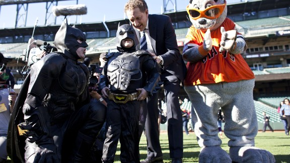 "Leukemia survivor Miles Scott, 5, is probably one of the best known child superhero fans. His nickname is ""BatKid"" and last year, the Make-A-Wish foundation turned San Francisco into Gotham City for a day to fulfill Scott's wish of bringing BatKid to life."