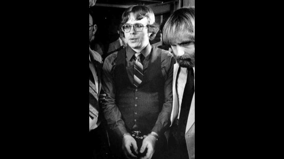 Franklin shown following a murder conviction in Salt Lake City in 1981.