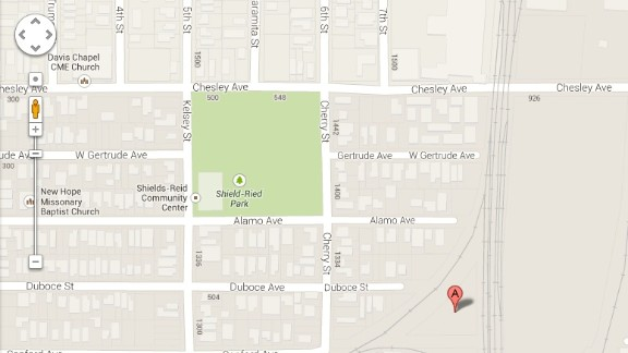 A satellite image of this area on Google Maps shows what a California man says is his son
