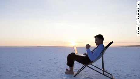 About two-thirds of working Americans stay connected to their offices while on vacation.