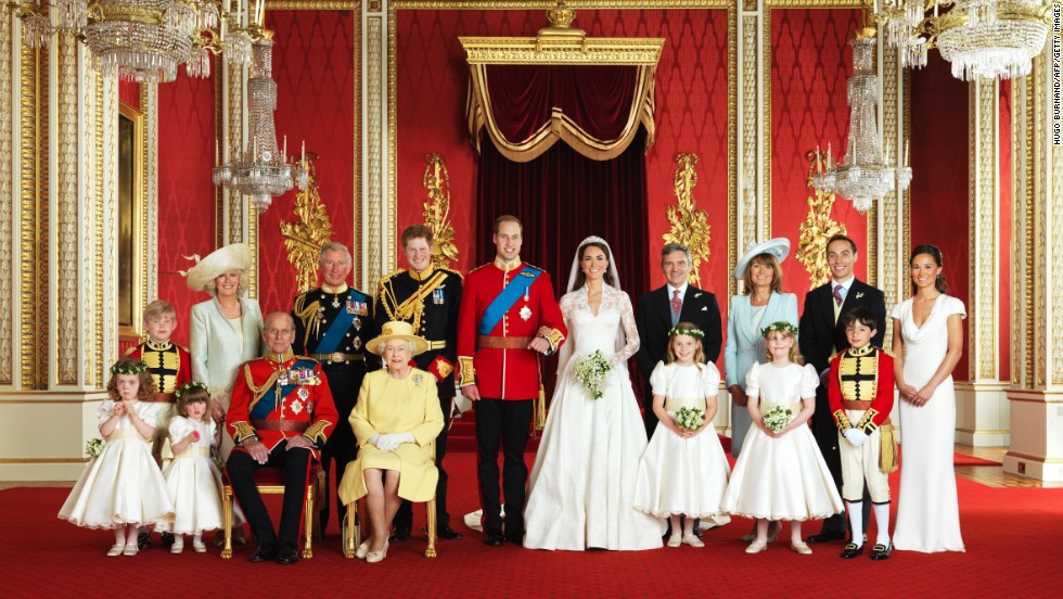 the british royal family in the throne room at buckingham palace in london on april 29