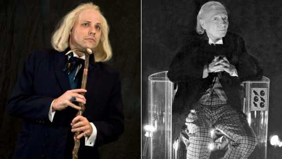 """For 50 years, """"Doctor Who"""" has thrilled TV viewers with the science fiction exploits of one alien with two hearts and (thus far) a dozen different faces. Fans have been dressing up as  -- cosplaying -- their favorite Doctors for decades. Here, Scott Sebring, left, portrays William Hartnell"""