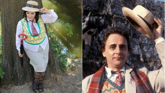 """""""Erdaniella"""" got together with some female friends in Budapest, Hungary, last summer to do a photo shoot as all 11 Doctors. She chose Sylvester McCoy"""