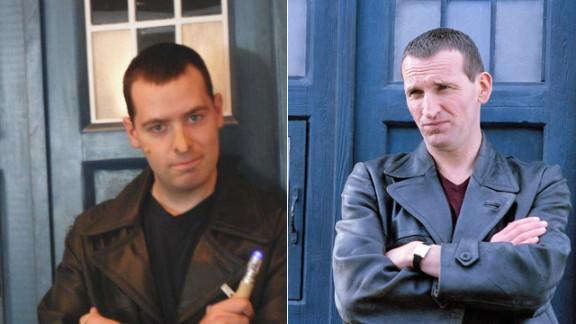 John Rabon of Easley, South Carolina, cosplays the Ninth Doctor.