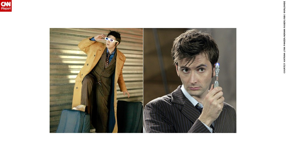 "David Tennant is a favorite of new ""Doctor Who"" fans, and <a href=""http://ireport.cnn.com/docs/DOC-1056629"">Katrina Lynn Panzer</a> has made something of a reputation playing him. He ""reminded me of myself. I quickly realized it wasn't just his enthusiasm or his tendency to use furniture in unconventional ways. He also had the anxiety and mood swings I've experienced most of my life."""