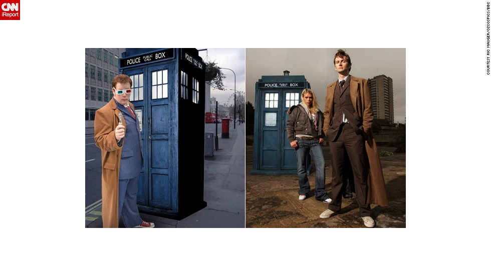 "<a href=""http://ireport.cnn.com/docs/DOC-1057536"">Ric Mauger</a> of Hawthorn, Australia, as the Tenth Doctor."